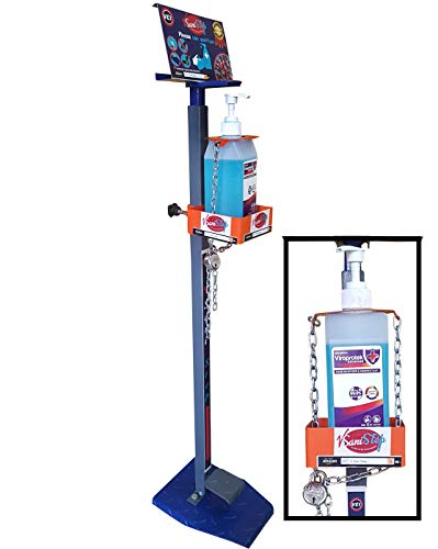 VEI V Sani Step Grey Lockable, a Hands free foot operated sanitizer dispenser stand with bottle locking facility. (from an ISO 9001:2015 Quality assured company) (Grey, Lockable) Price & Reviews