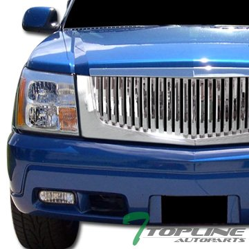 Chrome Vertical Sport Front Hood Bumper Grill Grille Abs Cadillac (Escalade Chrome Grill)