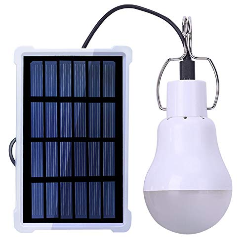 SZYOUMY Solar Portable 12LED Smart Light Control Bulb Solar Panel Lamp USB Powered Rechargeable Lantern Lamps for Home Shed Barn Indoor Outdoor Emergency Hiking Tent Reading Camping Night Work Light by SZYOUMY