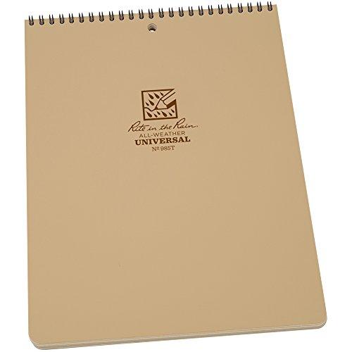 Rite in the Rain Weatherproof Top-Spiral Notebook, 8 1/2