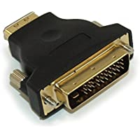 MyCableMart DVI-M1 Male to HDMI Female Adapter, Gold Plated