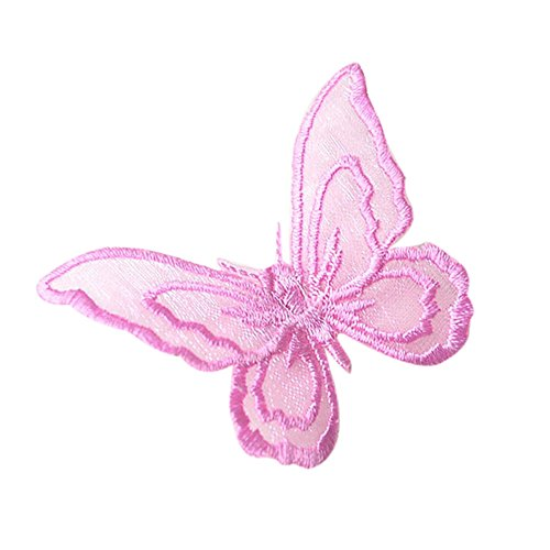 (wuliLINL DIY Embroidered Butterfly Applique Patches Sticker for Arts Crafts DIY Decor, Jeans, Jackets, Clothing, Bags )