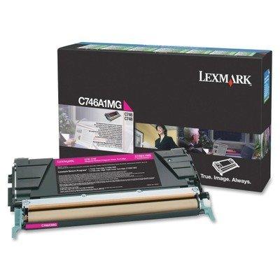 (LEXMARK OEM TONER FOR C746N - 1 STANDARD RTN PROG MAGENTA (C746A1MG) - by Lexmark)