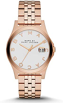 b955e4d620036 Marc by Marc Jacobs The Slim Women's White Dial Stainless Steel Band Watch  - MBM3391