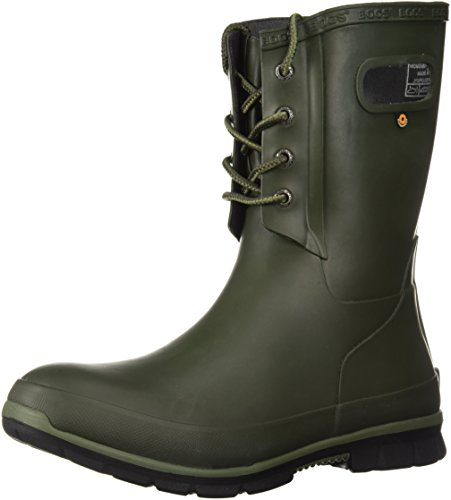 Bogs Womens Amanda 4-Eye Solid Rain Boot Forest Night VE3JhZ5Jah