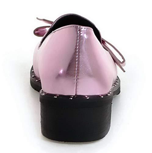 Maiale Ballet AgooLar Puro Rosa Pelle GMMDB005865 di Donna Punta Flats Chiusa qqwt07pn