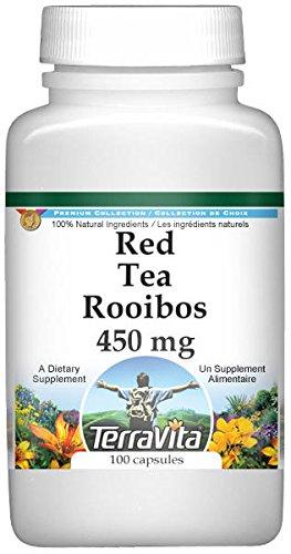 Red Tea Rooibos - 450 mg (100 Capsules, ZIN: 521862) - 3 Pack by TerraVita