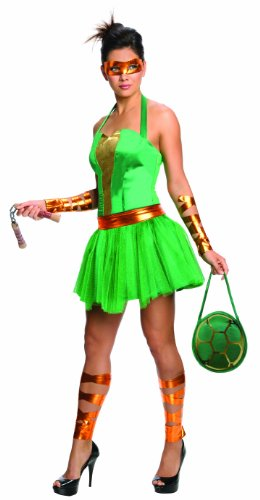 Secret Wishes  Costume Teenage Mutant Ninja Turtles Michelangelo Adult Female, Green, (Teenage Mutant Ninja Turtle Female Costumes)