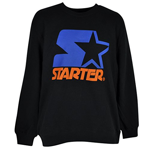 Starter Wordmark Pullover Sweater Black Mens Adult Winter Crew Neck Fleece 2XL (Starter Hoodie Men compare prices)