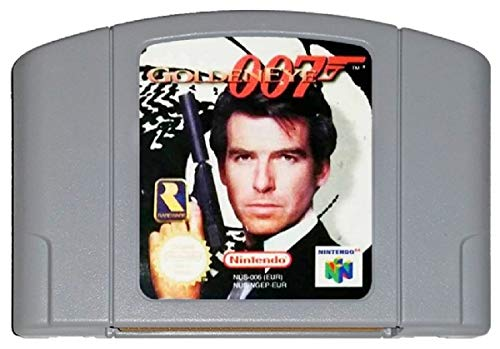 Golden Eye 007 N64 - Video Game Cartridge Card - Compatible model NINTENDO - English - US Version (Game Video Goldeneye)