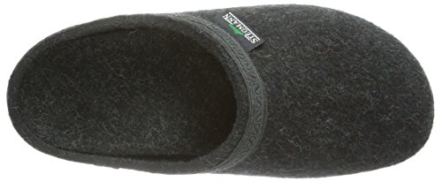 Stegmann 127, Unisex Adults' Open Back Slippers Grey (8801 Graphit)