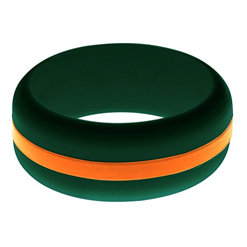 FLEX Ring - Womens Mens Dark Green Silicone Ring - Changeable Color Bands - Many Colors - Safe, Durable, Everyday Wear Wedding Band - 1 Ring - Sizes 4-16