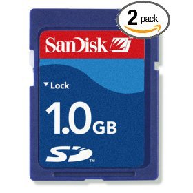 (SanDisk 2-Pack: 1GB SD Secure Digital Card (SDSDB-1024-A10, Retail Packages!))