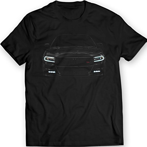2016 Dodge Charger R/T T-Shirt 100% Cotton (XXL, Black) Dodge Charger T-shirt
