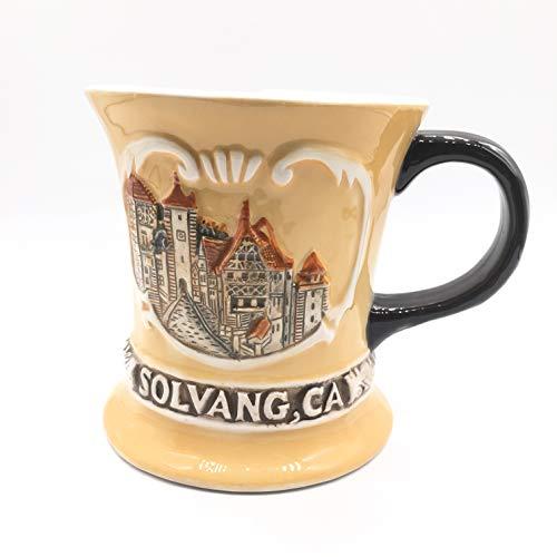 Weekinglo Danish Village Solvang California USA America 3D Emboss Handpainted Ceramics Coffee Mug Cup Handmade Craft Tourist Travel Souvenir Collection Gift 12 Ounce