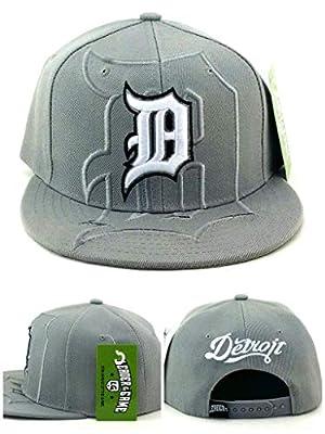 Detroit New Leader City Shadow D Script Tigers Colors Gray Blue White Era Snapback Hat Cap