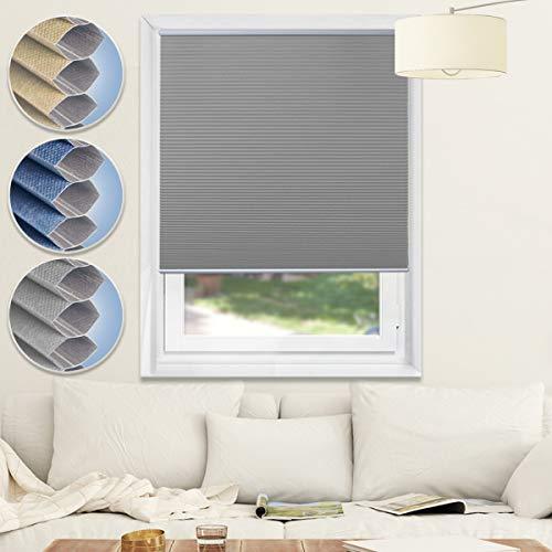 Honeycomb Shades Cellular Blackout Grey White product image