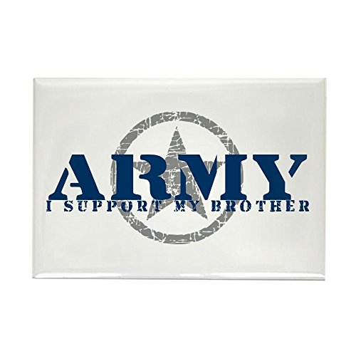 CafePress Army - I Support My Brother Rectangle Magnet, 2
