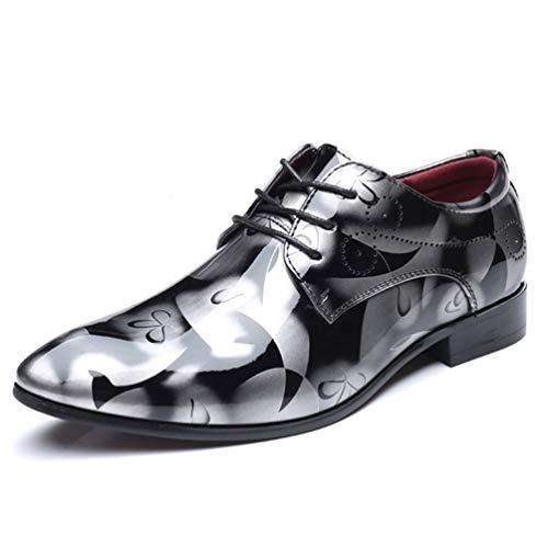 Gris Negocio Boda Cuero Hombre Hombre Zapatos Formal Zapatos Oxford Vestido para p0PYxvYqw