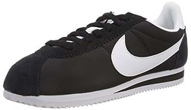 Nike Australia Women's Classic Cortez Nylon Trainers, Black/White, 6 US