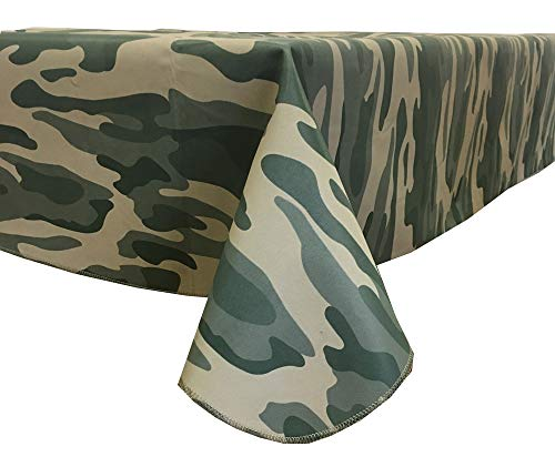 - Fairfax Collection Old School CAMO Camouflage Print Vinyl Tablecloth, 60-Inch by 84-Inch