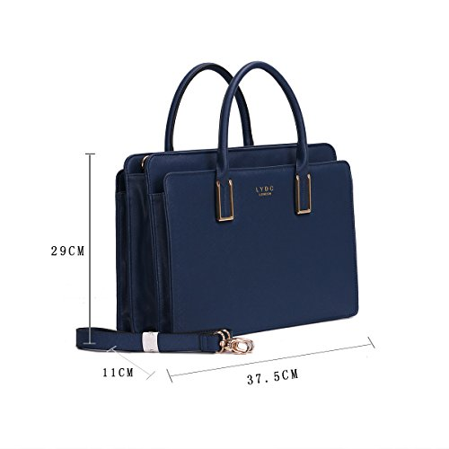 Compartments Various Briefcase Dark Ladies 3 Women Colours for London Blue in LYDC UYqxg8wR5n