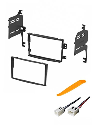 ASC Audio Car Stereo Dash Install Kit and Wire Harness for Installing an Aftermarket Double Din Radio for 2006 2007 2008 Nissan 350Z ()