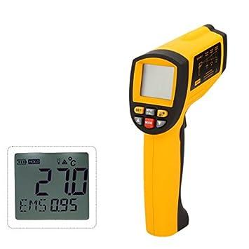GM1651 LCD sin contacto 50: 1 termómetro Digital infrarrojo IR Laser Temperatura Pistola Tester gama
