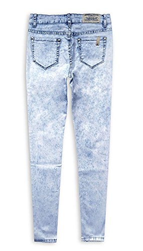Women's Waisted Jeans Pants 0114 Angcoco Holes High Destroyed Skinny Ripped d4dqwTEx