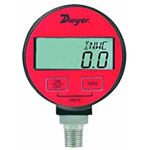 Dwyer DPGA Series Digital Pressure Gauge for Air and Compatible Gases, Range 0 to 300 Psig