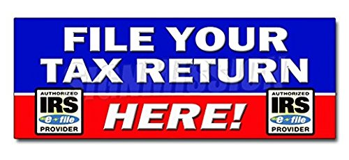 24  File Your Tax Return Here Decal Sticker Taxes Irs Refund Check Income   Sticker Graphic   Auto  Wall  Laptop  Cell Sticker