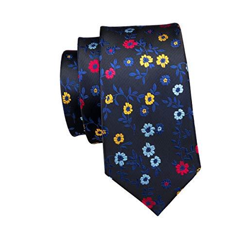 Blue Set Floral Cufflinks 13 Party Tie Blue Cotton Men Business Wang Formal Barry Silk Tie Set Handkerchief EqC6wxvU