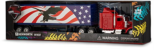 Wheel Master Kenworth Trailer W900 Play Toy Truck for Kids 1:43 Scale
