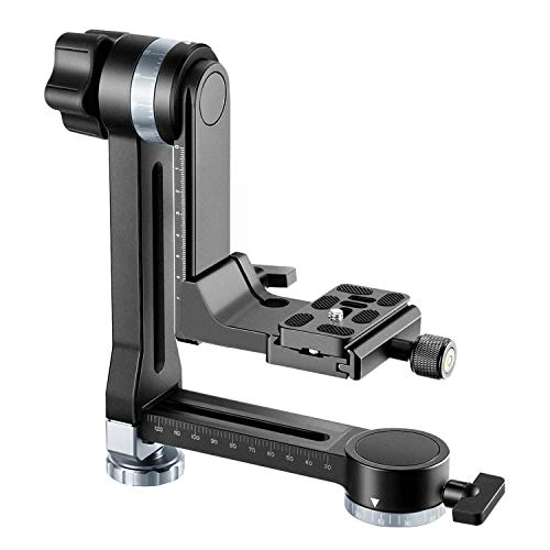 Neewer Professional Metal Gimbal Tripod Head 360° Panoramic Head with 100mm Movable Horizontal Axis, Arca-Swiss Standard QR Plate and Bubble Level for Digital SLR Cameras up to 33lbs/15kg