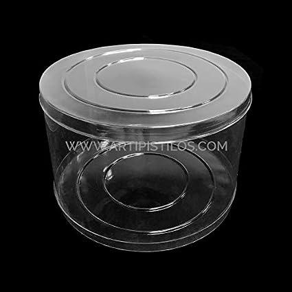 Artipistilos Caja Acetato Cilíndrica 20 X 15 Cm - Transparente - Cajas Para Tocados