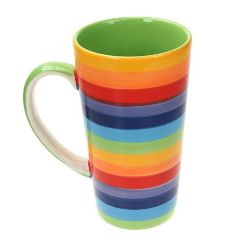 Windhorse Rainbow Large Ceramic Hot Chocolate Tea Coffee Mug
