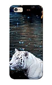 EIUyP0hKWiq New Premium Flip Case Cover White Tigers White Tiger Skin Case For Iphone 6 Plus As Christmas's Gift