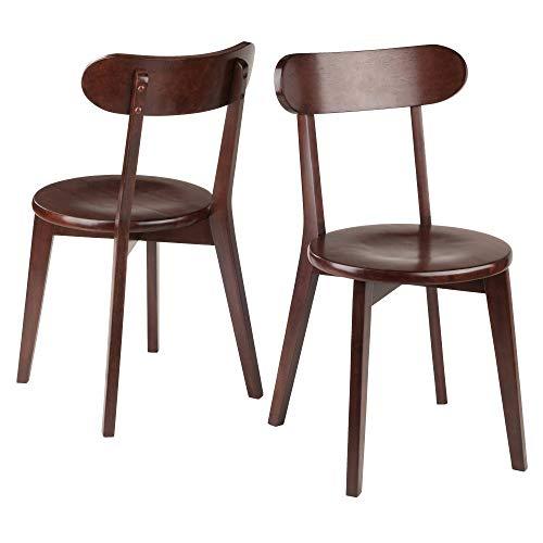 Winsome Wood 94209 Pauline 2-PC Set Chair, Walnut, 17.32x18.96x31.59