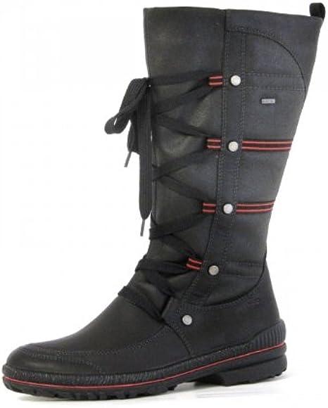Legero GoreTex Damen Stiefel schwarz rot 70097202 Größe 37