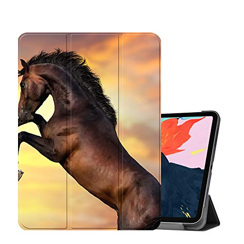 Horse Akhal Horses Teke - MTAOTAO Magnetic Smart Case for iPad Pro 12.9 inch 2018, [Support Apple Pencil Charging] Trifold Stand Case with Auto Sleep/Wake, PU Leather Cover for New iPad Pro 12.9