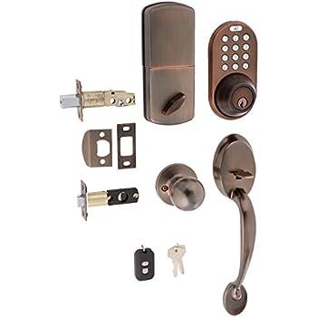 Milocks bxf 02ob digital deadbolt door lock and passage for Front door lock with code
