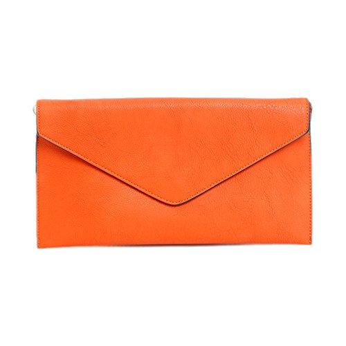 LS2 - Cartera de mano de Piel Sintética para mujer naranja