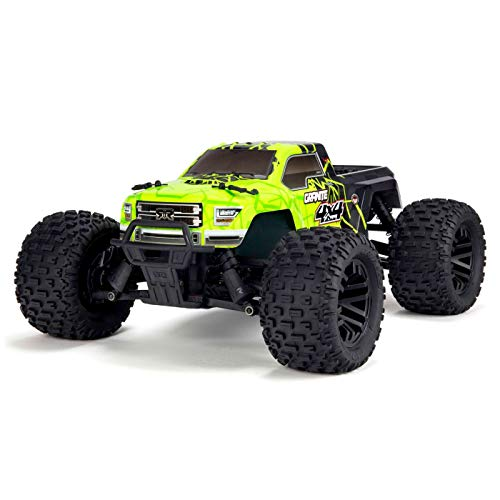 ARRMA 1/10 Granite Mega 4x4 RC Monster Truck 4WD RTR with 2.4Ghz Spektrum Radio, 7C 2400mAh NiMH Battery & Charger, Green/Black (ARA102714T1)