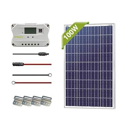 Newpowa 100/200/400 Watt Solar Panel Starter kit (100w/200w/400w)