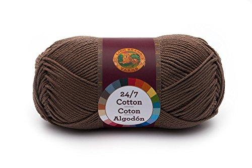 Lion Brand Yarn 761-126 24-7 Cotton Yarn, Cafe Au - Au Buy Com