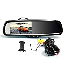 """I-Max 4.3"""" Built in Bluetooth Dual Video Inputs Auto Adjust Brightness Car Rearview Factory Upgrade Mirror Monitor Support Backup Camera Compatible"""