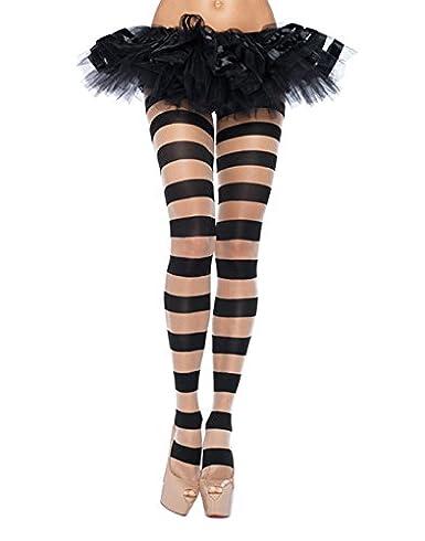 e59fbd22942 Amazon.com  Leg Avenue Womens Sheer and Opaque Striped Tights  Clothing