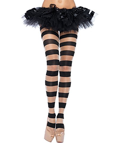 (Leg Avenue Womens Sheer and Opaque Striped)