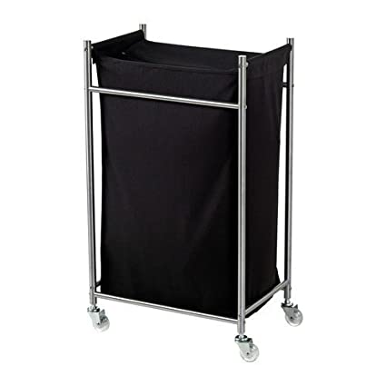 Ikea Grundtal – Ropa carro en negro; de acero inoxidable; ...