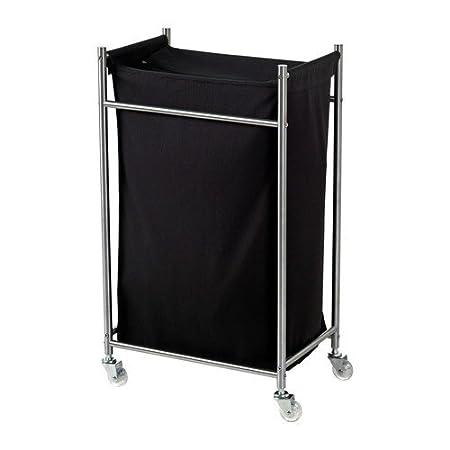 Ikea Grundtal - Ropa carro en negro; de acero inoxidable; (128 cm ...